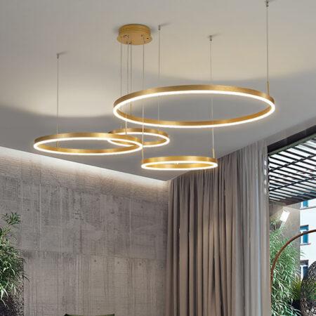 Đèn thả LED hiện đại 4 vòng tròn TH-831A-20