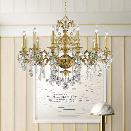 Đèn chùm đồng pha lê cao cấp Marie Antoinette (T0871)