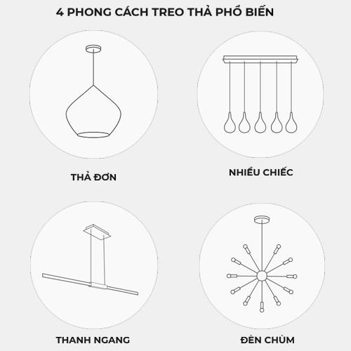 4 loại treo thả phổ biến