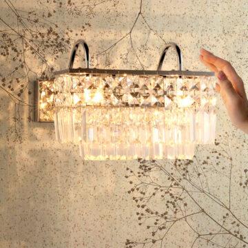 đèn tường pha lê