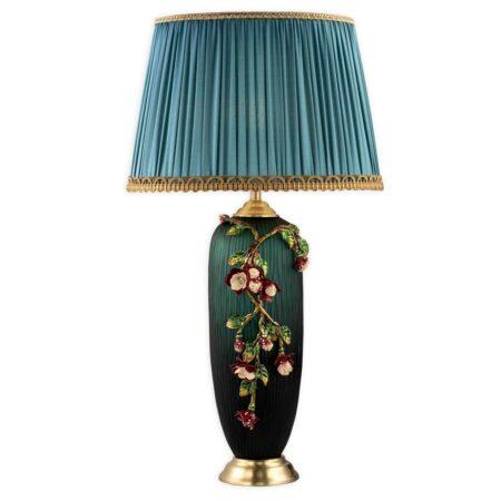 Đèn để bàn đồng gốm sứ cao cấp VR17657