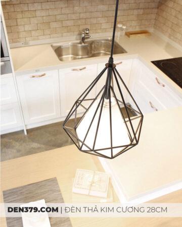 Đèn thả kim cương khung sắt hiện đại 18934: bàn ăn, quầy bar, phòng ngủ, quán ăn, cafe