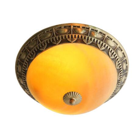 Đèn ốp trần đồng chao đá cổ điển 19243