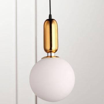 Đèn thả trang trí thủy tinh tròn hiện đại 20cm VR0485