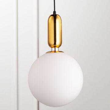 Đèn thả trang trí thủy tinh tròn hiện đại 25cm VR0488