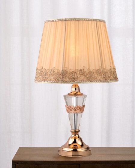 Đèn bàn, đèn ngủ thủy tinh chụp hoa VR3154