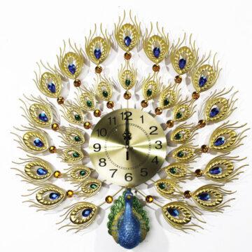 Đồng hồ trang trí gắn tường con công
