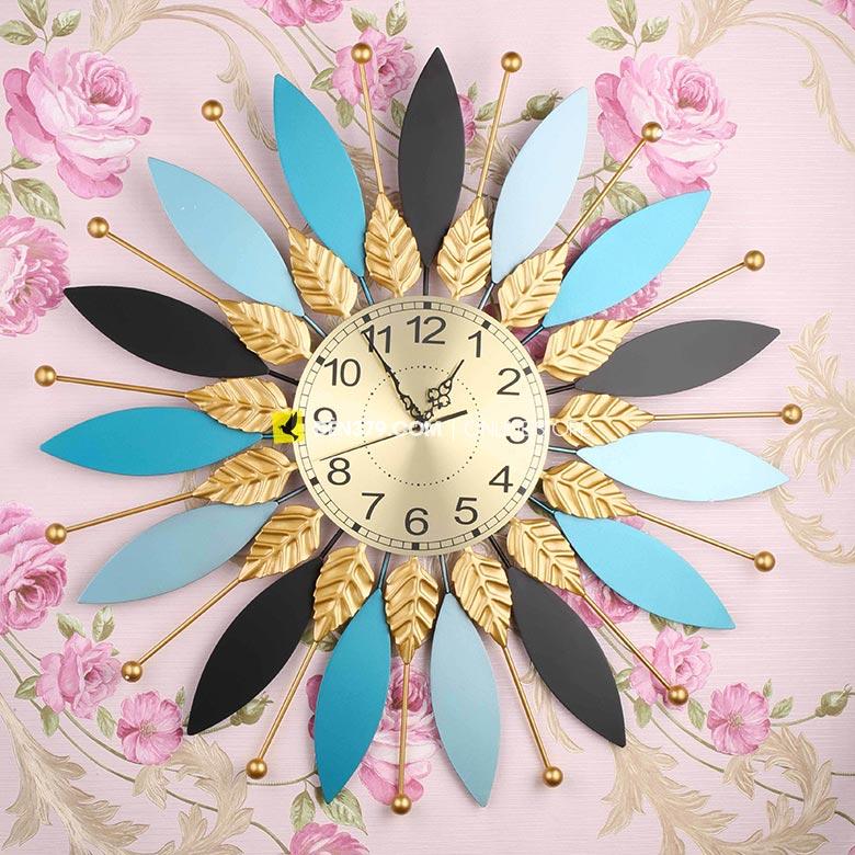 Đồng hồ trang trí gắn tường Lá cách điệu VIRGO VO-2003
