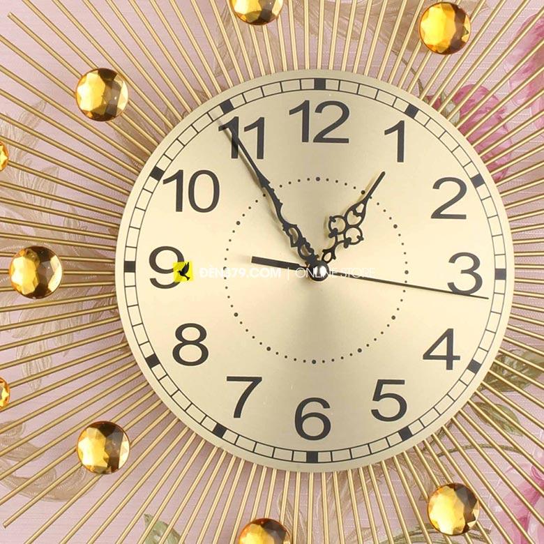 Đồng hồ trang trí gắn tường Hạt pha lê VIRGO VO-1802