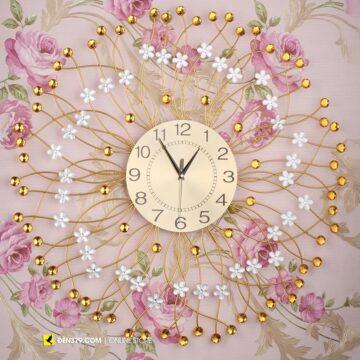 VIRGO VO-028 | Đồng hồ trang trí gắn tường Hoa pha lê