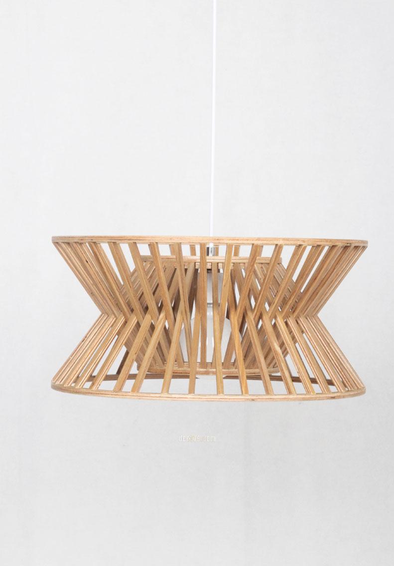 VIRGO V9526 | Đèn thả gỗ thông tự nhiên