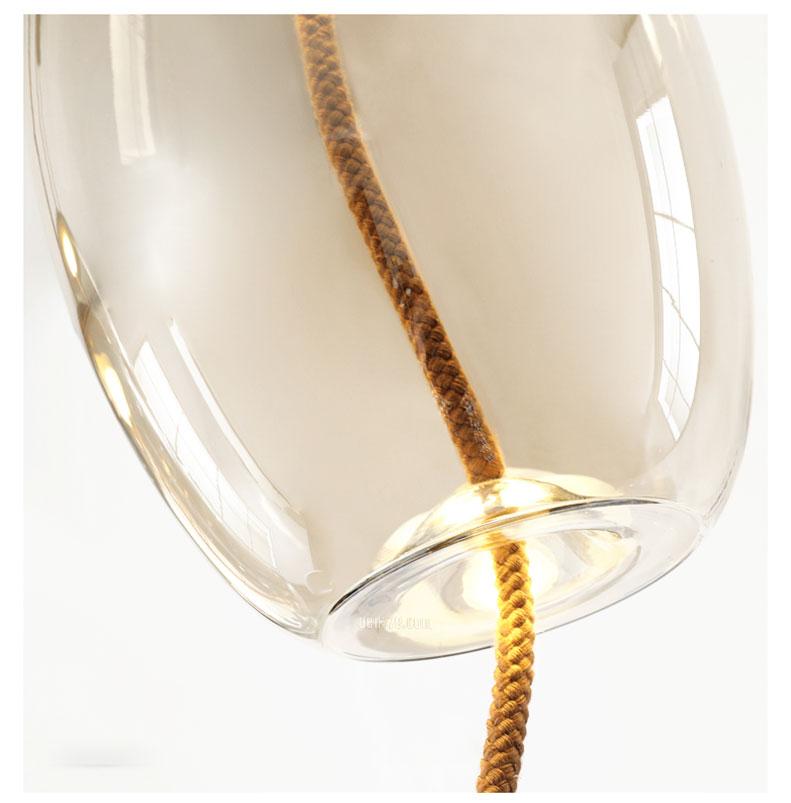 VIRGO V219   Đèn thả trang trí thủy tinh màu trà cao cấp