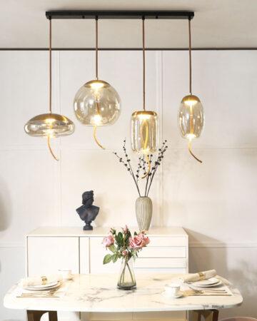 VIRGO V219 | Đèn thả trang trí thủy tinh màu trà cao cấp