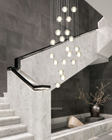 VIRGO V2084 | Đèn thả trang trí giọt nước thông tầng cao cấp (5W)