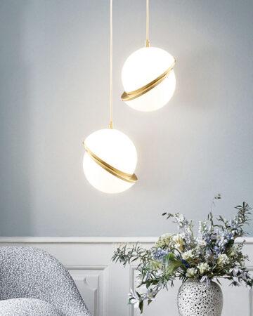 VIRGO V2721 | Đèn thả trang  trí thủy tinh | Quả cầu lệch | 8W
