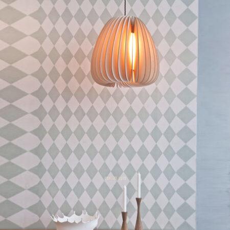VIRGO V9540 | Đèn thả gỗ xếp hiện đại