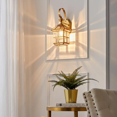 VIRGO V7045 | Đèn gắn tường đồng lồng kính