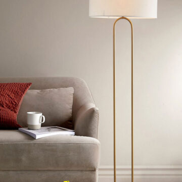VIRGO V578F | Đèn để sàn hiện đại đế đá marble trắng