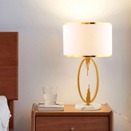 VIRGO V582 | Đèn để bàn chân đá hoa trắng | Đèn ngủ cao cấp