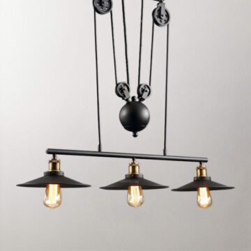 Đèn thả trang trí 3 bóng phong cách công nghiệp C2013