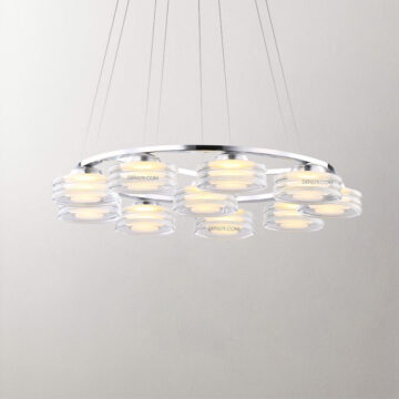 Đèn thả thủy tinh trang trí bàn ăn D2033