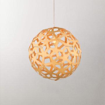 Đèn thả trang trí quả cầu gỗ D2034