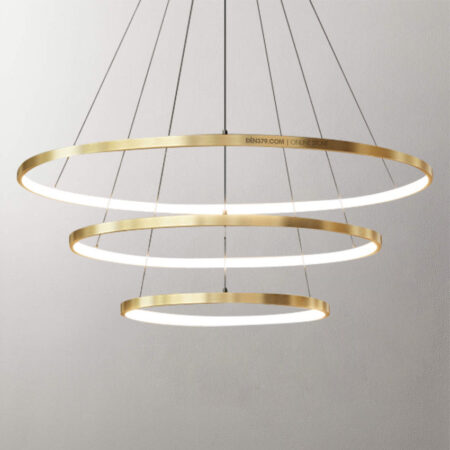Đèn thả LED trang trí 3 vòng xi vàng cao cấp D3031