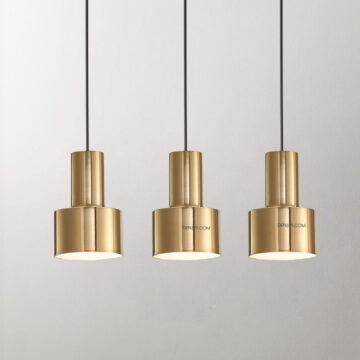 Đèn thả ống hợp kim xi vàng D3048