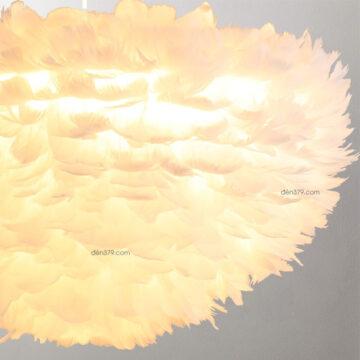 Đèn thả trang trí lông vũ D3085