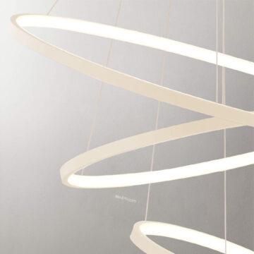 Đèn thả LED trang trí 3 vòng hiện đại D3030