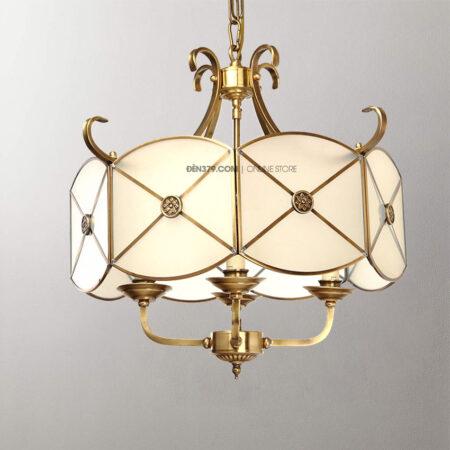 Đèn thả đồng trang trí cổ điển D3103