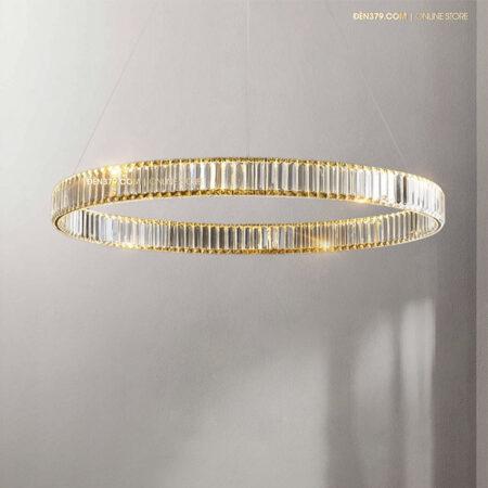Đèn thả trang trí vòng tròn pha lê cao cấp D3107