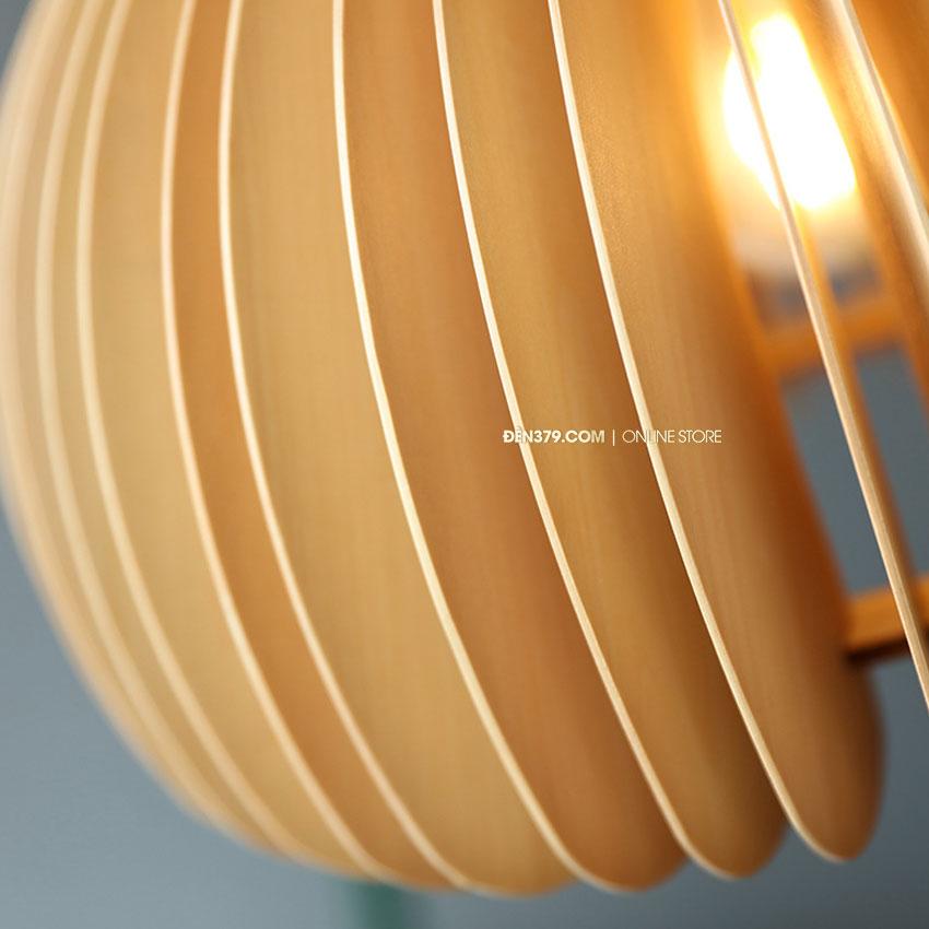 Đèn thả gỗ trang trí D3111