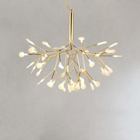 Đèn thả Hera thân vàng lá thủy tinh S213