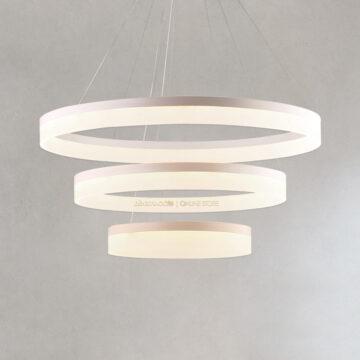 Đèn thả LED trang trí 3 vòng hiện đại S234 (80+60+40cm)