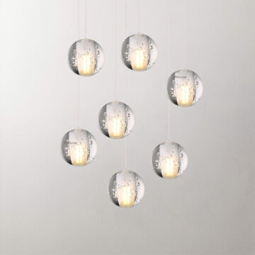 Đèn thả trang trí thủy tinh giọt nước hiện đại T2002