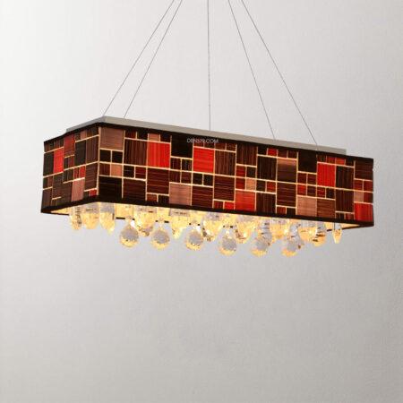 Đèn thả trang trí thủy tinh Mosaic D2027