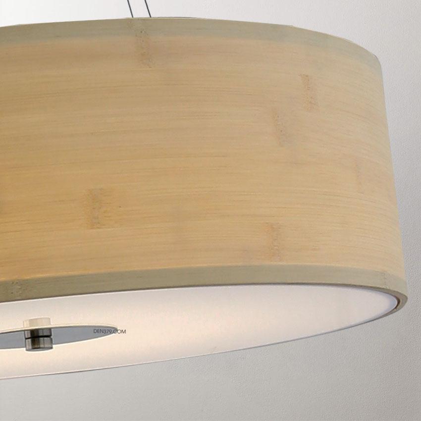 Đèn thả lá gỗ trang trí D2029