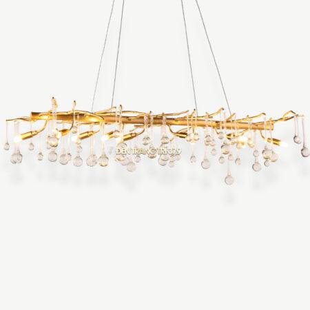 Đèn thả pha lê giọt nước trang trí bàn ăn cao cấp D3070