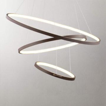 Đèn thả LED trang trí 3 vòng hiện đại D3029