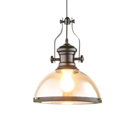 Đèn thả thủy tinh vintage màu trà D3199