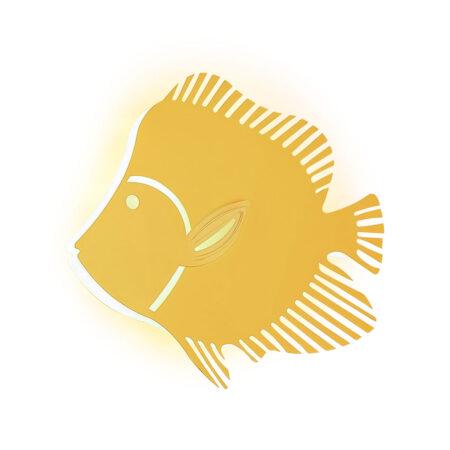 Đèn LED gắn tường con cá Q293