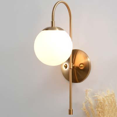 Đèn gắn tường trang trí quả cầu thủy tinh Q213