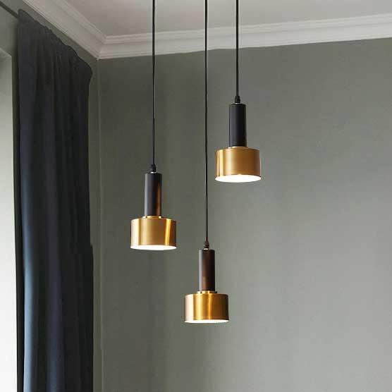 Đèn thả ống hợp đen vàng hiện đại D3208/1
