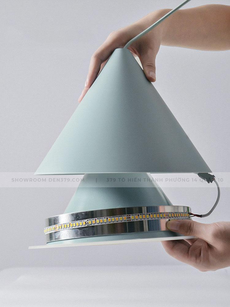 Đèn thả chiếc nón nhiều màu sắc hiện đại DK38