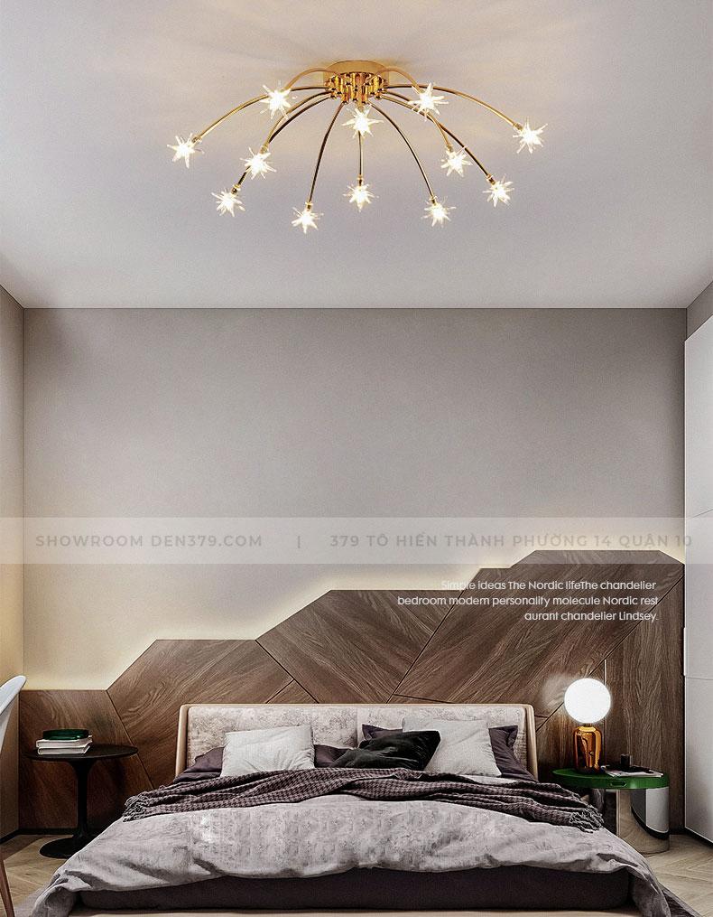 Đèn chùm ốp trần trang trí ngôi sao DN69/21