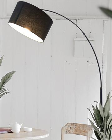 Đèn cây đứng đọc sách màu đen FH527