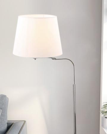 Đèn cây đứng thân inox chụp đèn trắng FK5138
