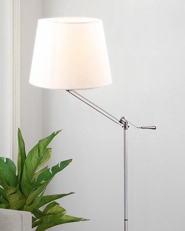 Đèn cây đứng thân inox chụp đèn trắng FS8020