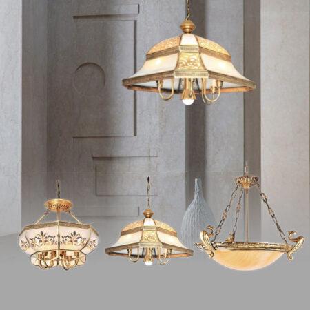 Đèn thả trang trí cổ điển bằng đồng cao cấp
